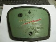 Old Stock Johnson Electric Start Front Plate For Green Metal Hood 1955