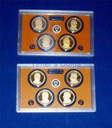 2012 S And 2013 S Proof Presidential Dollar Set- Two Sets-eight Coins-no Box/coa