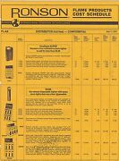 Misc-0233 - June 1974 Ronson Lighter Catalog Price List