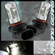 2x For Acura Toyota 9006 Hb4 White 6 Led 30w Projector Low Beam Fog Light Bulbs