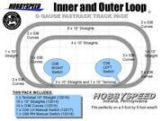 Lionel Fastrack Inner And Outer Loop Track Pack 5' X 9' Foot Train Layout New