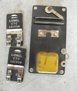 Vintage Lionel 706 Remote Uncoupler And 2 Ctc Lockons