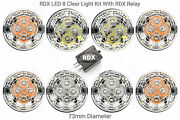 8 Rdx 300tdi All Clear Led 73mm Light/lamps Kit And For Land Rover Defender