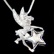 Tinkerbell Star Made With Crystal Fairy Tinker Angel Necklace Jewelry