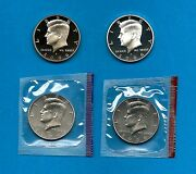 2006 Pdss Bu Plus Silver And Clad Proof Kennedy Half Dollar Update Set- 4 Coins