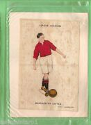 D130. Extra Large Silk Football Cigarette Card - Manchester United