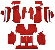 Carpet For 90-93 Chevy Corvette Convertible Complete Kit With 2 Latch Cutouts