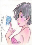 5finity Female Persuasion 3 Sketch Card By Dean Yeagle Of Suzette