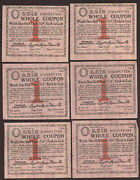 1917 Legget And Myers Tobacco Co 4 Oasis Valuable Coupons Free Ship Tc17