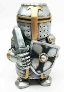 Doll House Miniature 4.5 Medieval Sword Shield Infantry Sculpture Suit Of Armor
