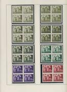 Croatia Ww Ii Landscape Proofs Bl 4no Gum34 Different On Pages