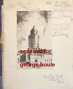 Beverly Hills - City Hall - 1932 - Signed - Will Rogers - Tom Mix, Koerner