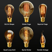 Vintage Industrial Filament Squirrel Cage Antique Style Edison Light Bulbs