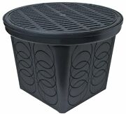 Storm Drain Fsd-3017-20bkit 20 Round Catch Basin With Grate And Lid Kit