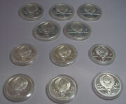 Lot Of 11 Commemorative Olympic Russian Silver Coins