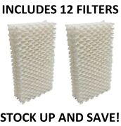 Humidifier Filter Wick For Essick Emerson Moistair Hdc-411 1211 2412 - 12 Pack