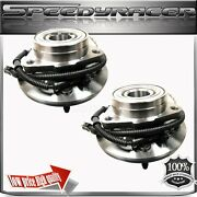 Two 1997-2000 Ford Pickup Truck F-150 5 Stud Front Wheel Hub Bearing Abs 4x4 4wd