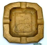 Vintage Brass David's Tower Ashtray Israel Late 1940s