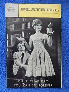 On A Clear Day... - Mark Hellinger Playbill - Opening Night - Oct. 17th, 1965
