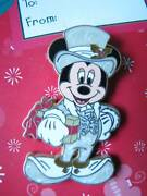 Disney Victorian Holiday Christmas Mickey Mouse Pin New