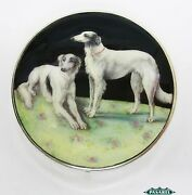 Novelty Sterling Silver And Enamel Powder Case Compact Adie Brothers England 1928