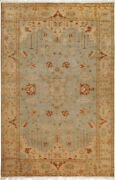 6x8 Surya Knotted Wool Blue Persien Border 1013 Rug - Approx 5and039 6 X 8and039 6