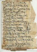 Billy Idol Signed Setlist From The 80and039s Coa + Proof Generation X