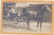 Real Photo Postcard Rppc - Man In Horsedrawn Wagon Rich And Co Dry Goods Coffin