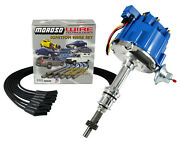 Sbf Small Block Ford 351w Windsor Hei Distributor Blue Cap And Moroso Wire Kit
