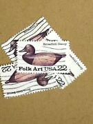 100 Used Stamps Each 2138-41 22c Duck Decoys/ 100 Each