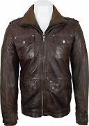 Unicorn London Mens Casual Leather Jacket Brown Soft Touch Leather Dj