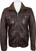 Unicorn Mens Casual Leather Jacket Brown Soft Touch Leather Dj