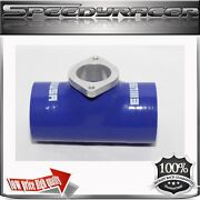 Emusa Silicone For Greddy Type S R Turbo Blow Off Valve Bov 2.5 Adapter Blue
