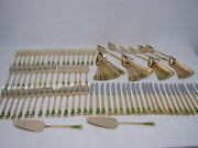 125 Pcs Hard To Find Farberware Christmas Hollyday Gold Electroplate Flatware