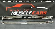 1971-72 Cuda Premium Chrome Front And Rear Bumper With Jack Slots Made In Usa