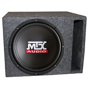 Mtx Audio Tn10-04 10 Inch Car Subwoofer With Tn1004 Vented Ported Enclosed Box