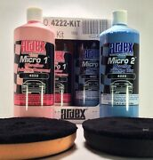 Clear-coat Polishing Compound And Finishing Wax Kit - Ardex Microfiber 1 And 2