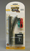Bachmann N Scale E-z Track Remote Right Hand Switch Train Turnout Rh Bac44862