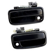Pair Black Outside Exterior Door Handle For 1995-2004 Tacoma Toyota Left And Right