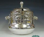 Kayser Art Nouveau Silver Plated Punch Bowl And Ladle Germany Circa 1890