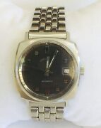 Lord Elgin Automatic Writ Watch Stainless Steel Excellent Condition New Bracelet