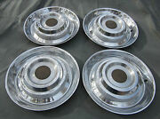 1954 -1955 Cadillac Hubcaps And Centers Used Orig Hubcap Wheelcover Set Custom 4