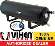 3 Gallon 7 Ports Air Tank Kit W/ Gauge And Switch Train Horns/suspension Vxt3000