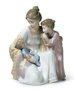Lladro Welcome To The Family 6939 Brand Nib Baby Boy Sister And Mother Save F/s
