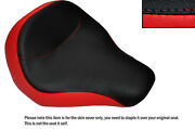 Black And B Red Custom Fits Harley Davidson Fatboy Flstf 06-14 Front Seat Cover