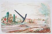 Claes Oldenburg Signed 1982 Original Color Etching - The Pick Axe