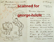 Edward Linley Sambourne - Autograph Letter - Illustrated - - Punch