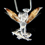 Brown Tinkerbell Made With Crystal Tinker Bell Fairy Necklace Jewelry