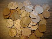 Lincoln Wheat Cent Penny Roll 1909-19 Pds Mixed Dates/mints Great Mix Of Teens