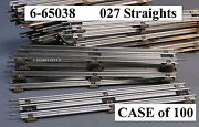 Lionel 027 Track Standard Straight Sections O Gauge Train 6-65038 Case Of 100